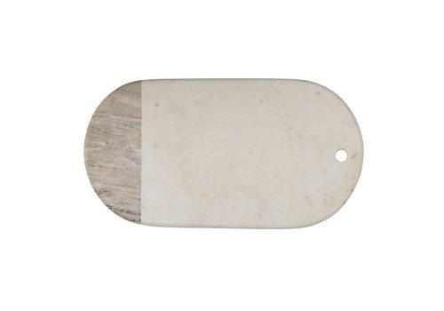 Bloomingville Snijplank marmer wit/beige