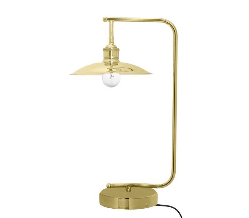 Metalen tafellamp - goudkleurig