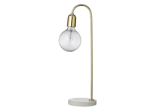 Bloomingville Tafellamp marmer/goud