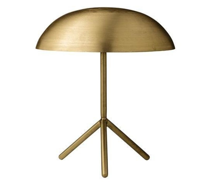 Tafellamp - brushed gold finish