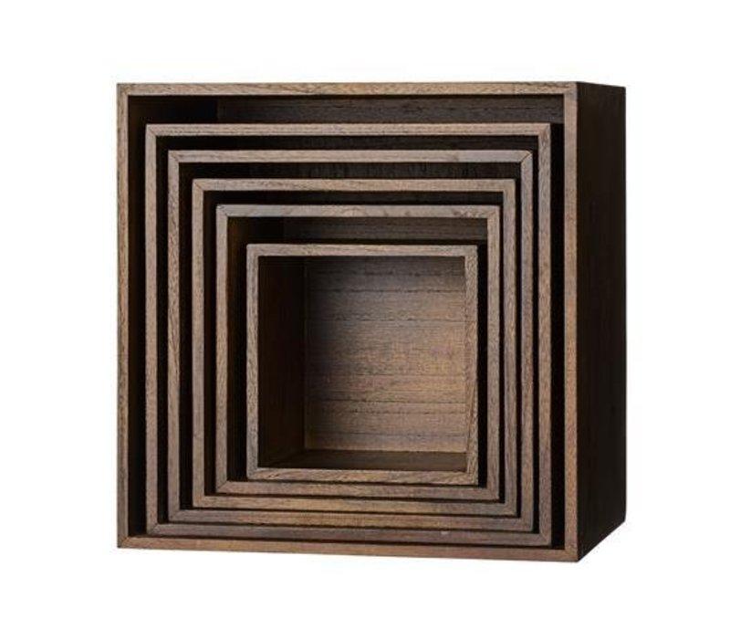 Display boxes mahogany