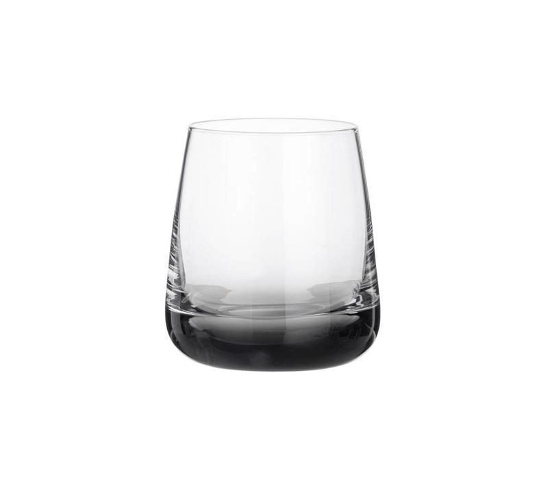 Smoke waterglas doorzichtig/grijs