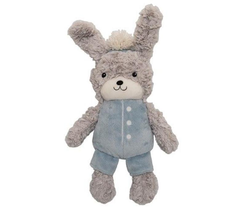 Pluche konijn knuffel, kit/winter - sky/white