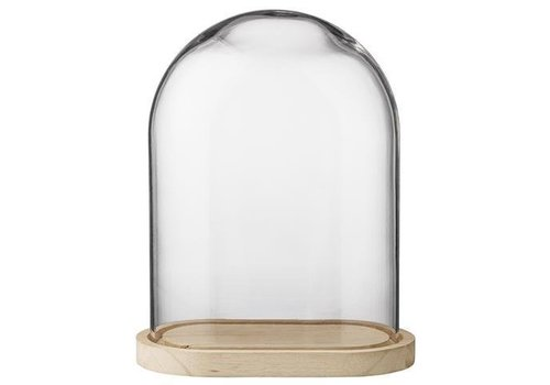Bloomingville Globe glas houten voet