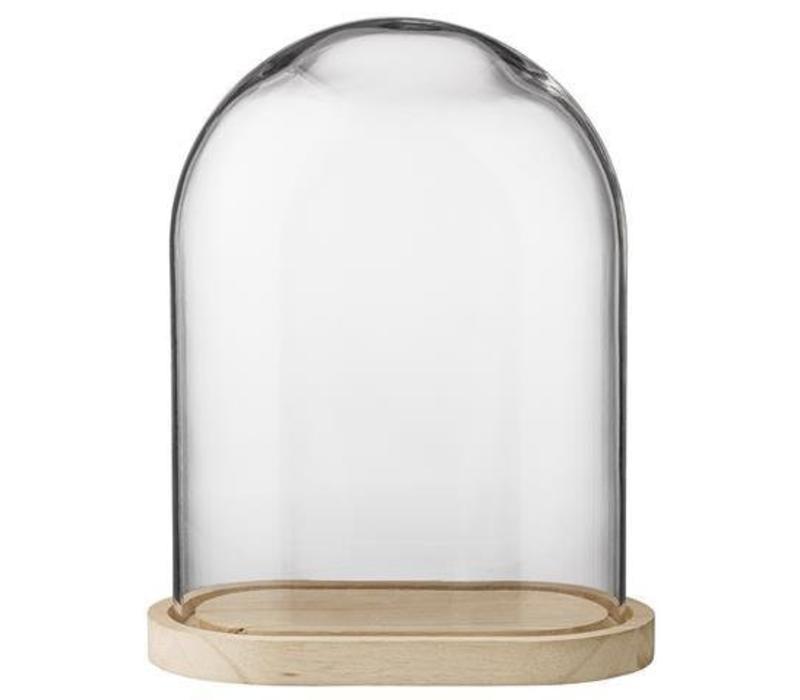 Globe glas houten voet