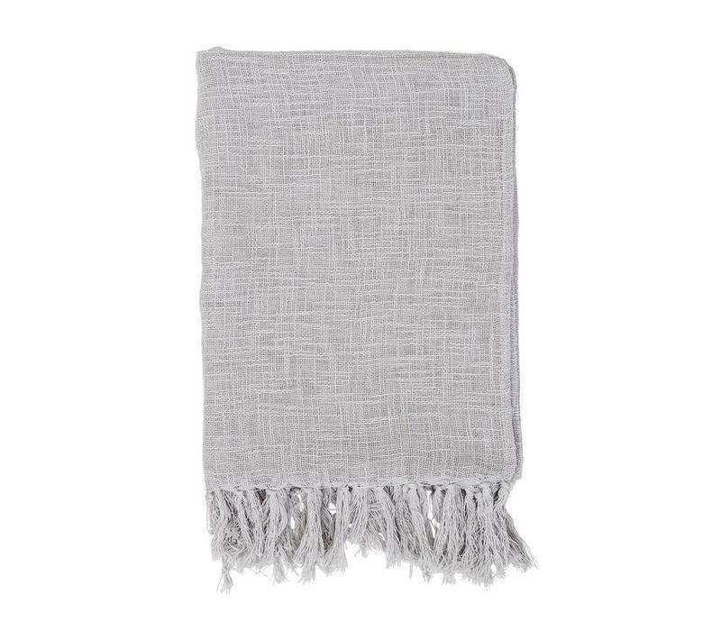 Katoenen deken grijs