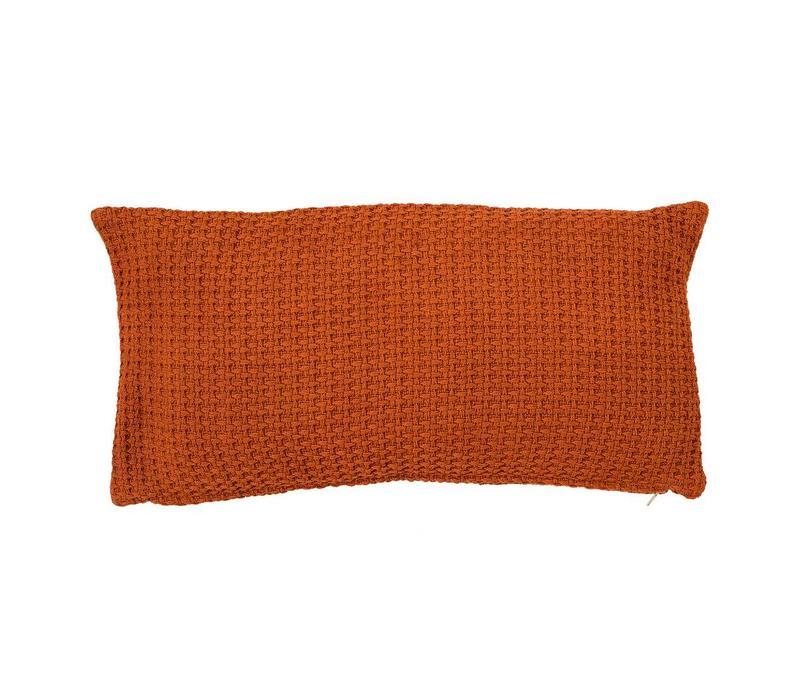 Kussen, oranje, katoen