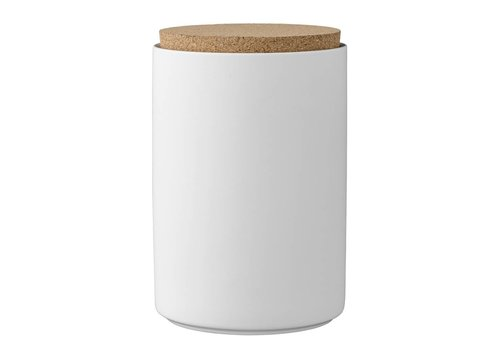 Bloomingville Voorraadpot met deksel wit - Ø11xH16 cm