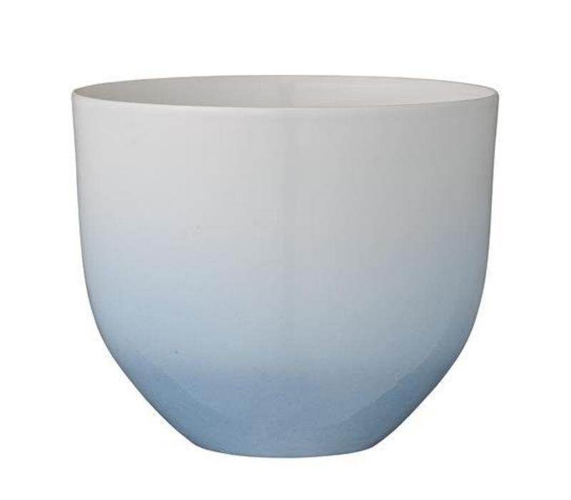Bloempot Gradient Blauw/wit