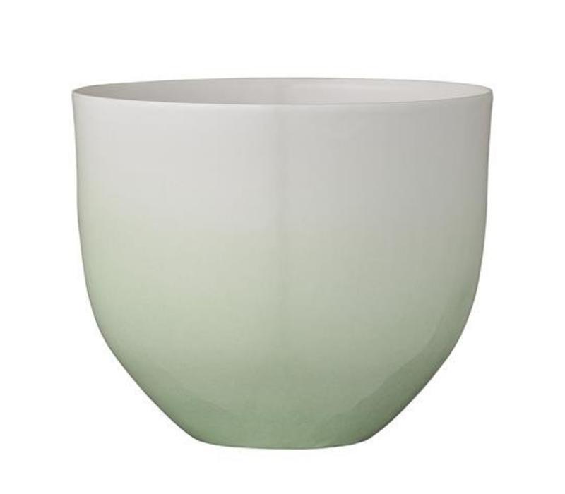 Bloempot Gradient Groen/Wit