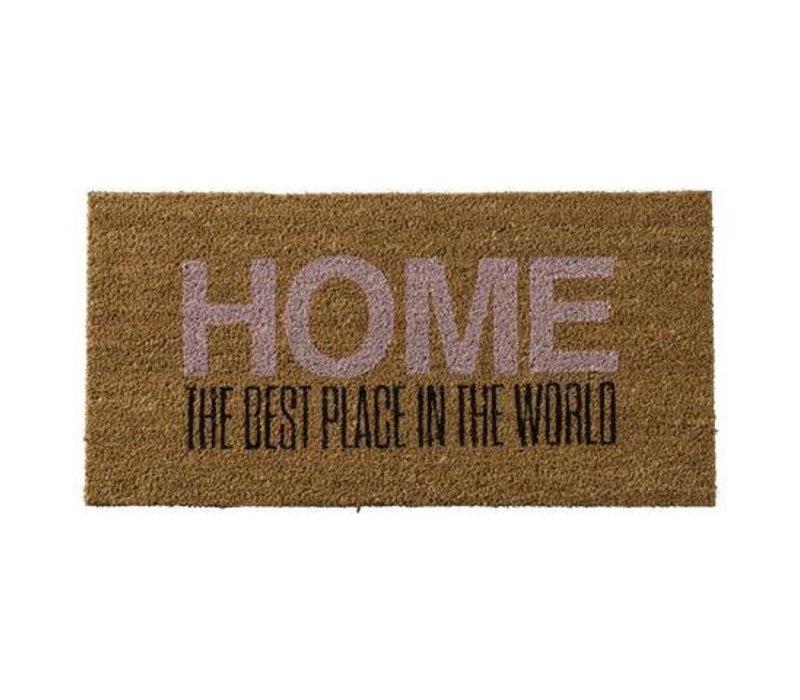 Deurmat tekst Home