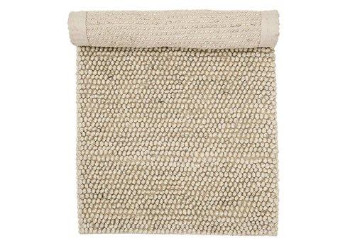 Bloomingville Tapijt wol naturel beige 120x60 cm