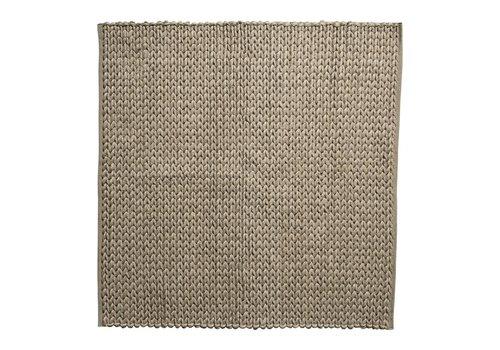 Bloomingville Tapijt wol bruin 150x150 cm