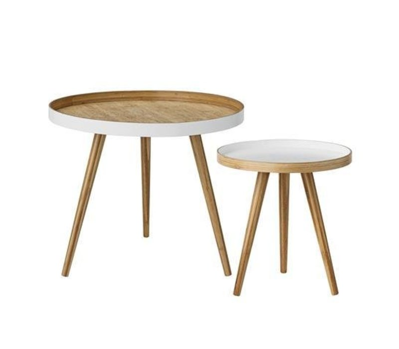 salontafels bamboo / white