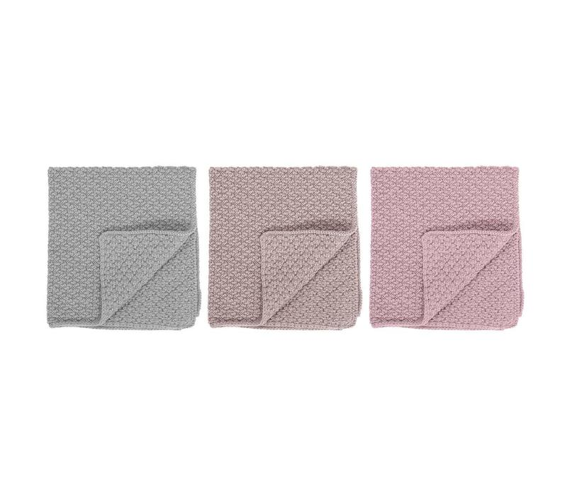 Katoenen vaatdoek multi-color pastel - set van 3