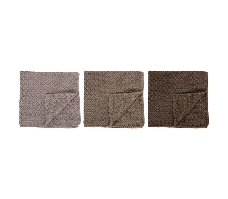 Katoenen vaatdoek multi-color naturel - set van 3
