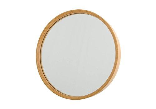 Bloomingville Ronde spiegel met bamboe rand