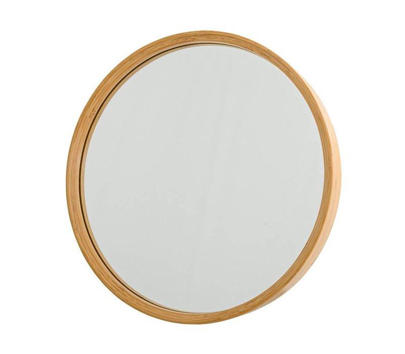 Ronde spiegel met bamboe rand