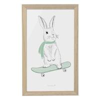 Kader konijn op skateboard