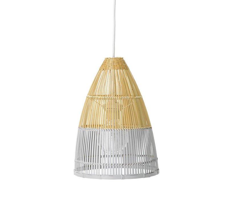Hanglamp bamboe, naturel/grijs