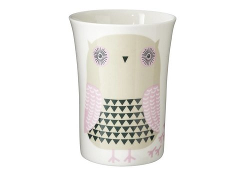 Donna Wilson Grey owl beker
