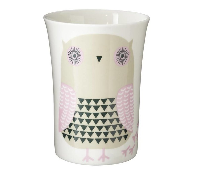 Grey owl beker