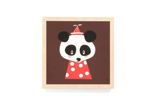 Ferm Living Posey Panda kader met afbeelding