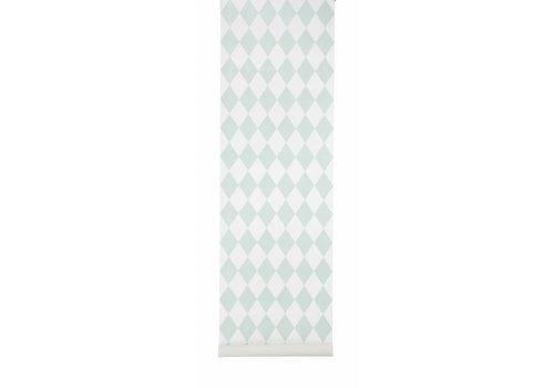 Ferm Living Harlequin behangpapier - mint