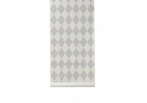 Ferm Living Harlequin behangpapier - grey