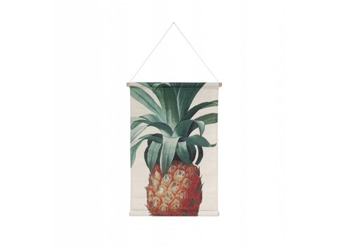 HK Living Wandkaart ananas
