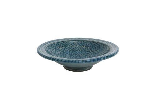 HK Living Souk schaal, keramiek - blauw medium E