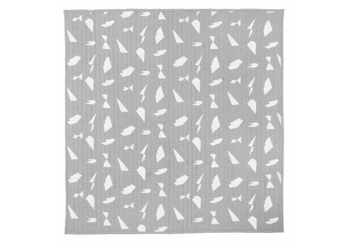 Ferm Living Cut bedsprei grijs 230x245cm