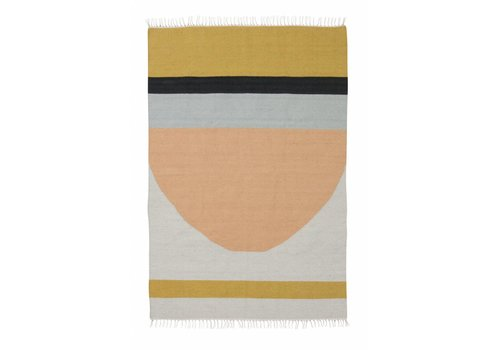 Ferm Living kelim tapijt - semicircle - large