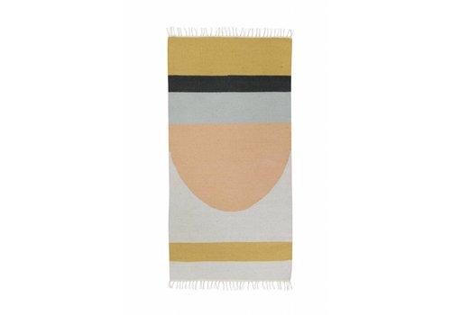Ferm Living kelim tapijt - semicircle - small