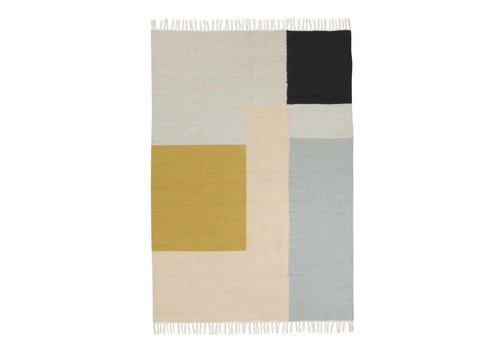 Ferm Living kelim tapijt - squares - large 140 x 200 cm