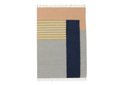 Ferm Living kelim tapijt - white lines - large