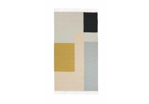 Ferm Living kelim tapijt - squares - small 80 x 140 cm