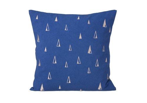 Ferm Living Cone kussen blauw