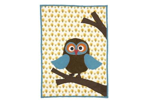 Ferm Living Owl quilted deken