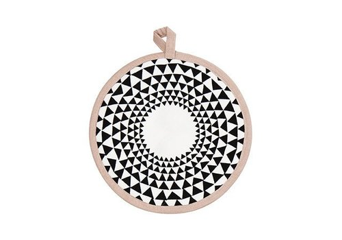 Ferm Living triangle pothouders - rose