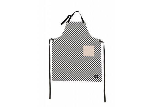 Ferm Living black stripe keukenschort