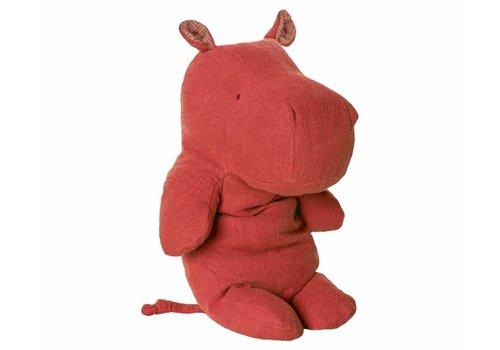 Maileg Safari friends, groot nijlpaard knuffel, rood