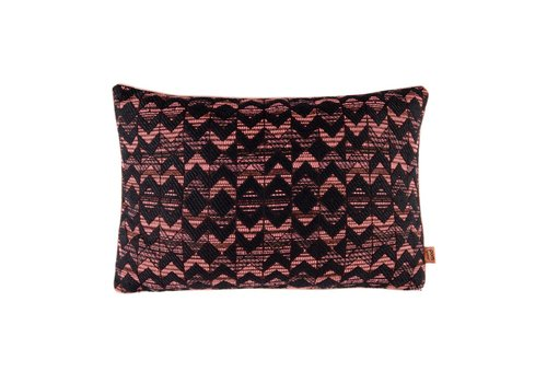 Pom Amsterdam Woven geometric kussen - coral