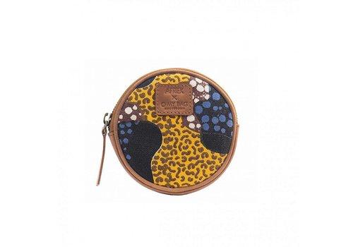O My Bag Afriek Circular purse portemonnee geel
