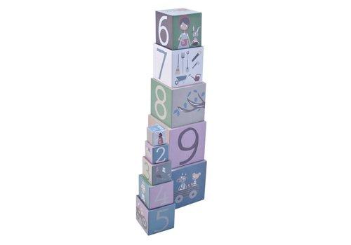 Sebra Stapelblokken speelgoed 10 stuks farm
