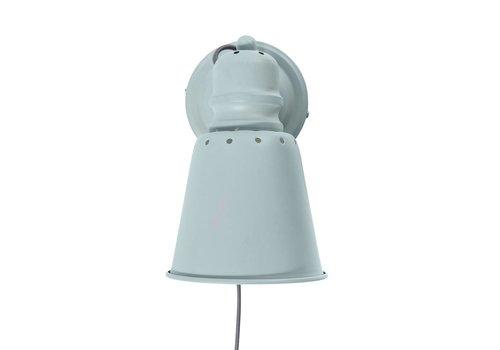 Sebra Metalen wandlamp lichtblauw