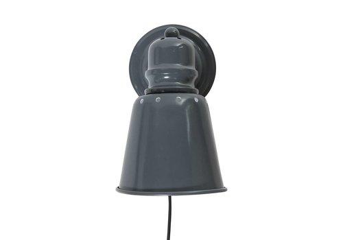 Sebra Metalen wandlamp donkergrijs