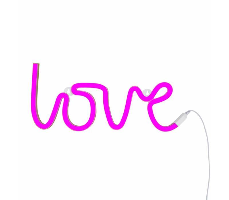 Neon stijl hanglamp Love