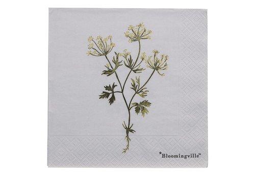 Bloomingville Papieren servetten - Flora, paars