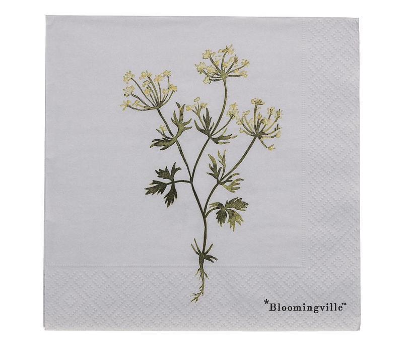 Papieren servetten - Flora, paars